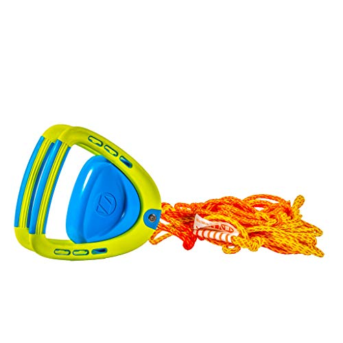 ZUP DoubleZUP 2.0 Tow Handle and Tow Rope for Watersports Boards, Kneeboards, Wakeboards, Water Skis, Yellow and Blue