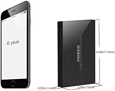 Disco duro enclosure, FIDECO aluminio USB 3.0 A SATA de 2,5 ...