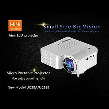 UC28B Mini Proyector LED portátil 1080P Cine en casa Cine en casa ...