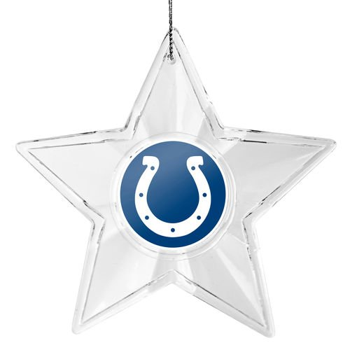 NFL Indianapolis Colts Traditional Acrylic Star Ornament