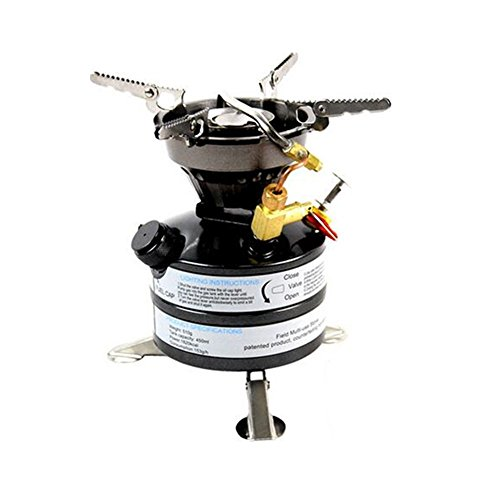APG Camping Gasoline Stoves Portable Outdoor One-Piece Cooking System Fuel Burners for Hiking Picnic