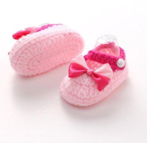 Covermason Baby Mädchen Jungen Kleinkind Schuhe Häkeln handgefertigt Strick Schuhe weiche Sohle Schuhe