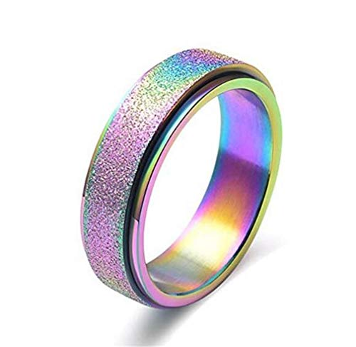 CHASIROMA Titanium Ring Stainless Steel Brushed Matte Comfort Fit Wedding Band