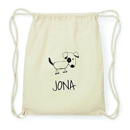 JOllipets JONA Hipster Turnbeutel Tasche Rucksack aus Baumwolle Design: Hund