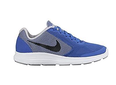Nike Kids Revolution 3 (GS) Running Shoe (5 Big Kid M, GAME ROYAL BLACK WOLF GREY WHT)