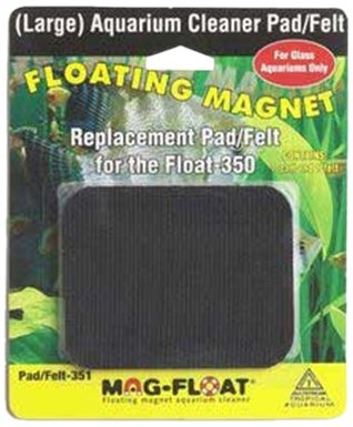 Gulfstream Tropical AGU00351 350-Gallon Mag-Replacement Pad Felt Aquarium Cleaner, Large
