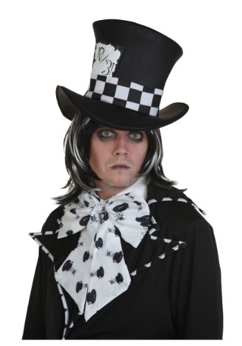 Mad Hatter Wig Adult (Fun Costumes Dark Mad Hatter Wig Standard)