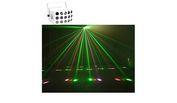 El partido enciende sonido activado Rayo de luz estroboscópica luz ...