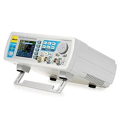 KKmoon High Precision Digital DDS Dual-channel Function Signal/Arbitrary Waveform Generator 250MSa/s 819214bits Frequency Meter VCO Burst AM/PM/FM/ASK/FSK/PSK Modulation 20MHz