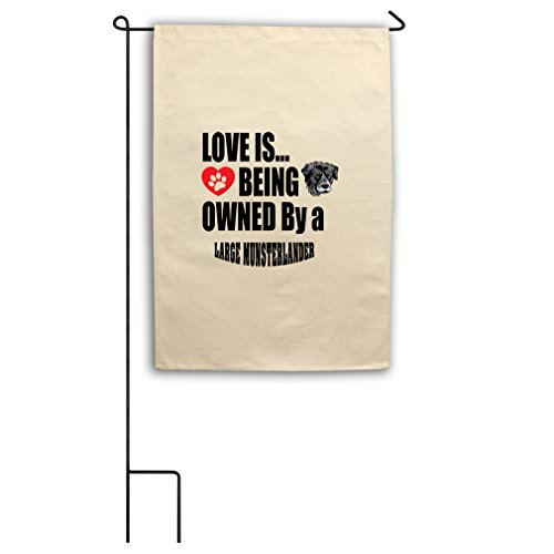 "Style in Print Canvas Yard Flag 18""X27"" Love Being Owned Lar"