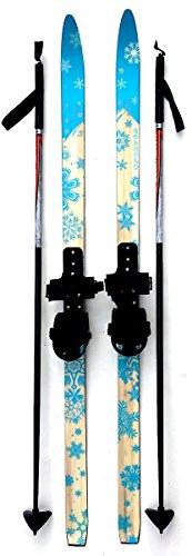Sporten Second Step Beginner Kids Junior Cross Country Skis 110cm Adjustable Universal Bindings Poles by sporten