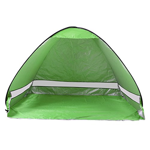 uxcell Beach Sun Shade Tent,Outdoor Automatic Pop up Instant Portable Cabana 2-3 Person Fishing Anti UV Beach Sun Shelter Tent, Sets up in Seconds (Apple (Cabana Sun Club)
