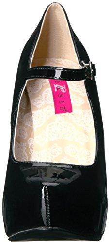 Pleaser Pink Label CHLOE-02 Black Patent TGQHOl5bCX