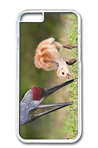 iPhone 6 Case, Custom Design Covers for iPhone 6 PC Transparent Case - Red Crowned Crane