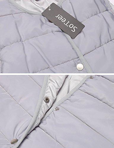 Sleeve Hoodies Striped Women Long Pullover Tops Grey Silver Sweatshirt Casual Street Sports 5zx4zwZA