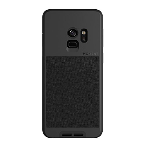 Galaxy S9 Case || Moment Photo Case in Black Canvas - Thin, Protective, Wrist Strap Friendly case for Camera Lovers.