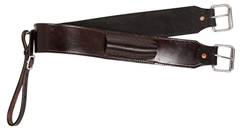 Strap Cinch Connector (AceRugs Premium Western Leather Back Cinch Horse TACK Dark Oil with Connector Strap (Standard))