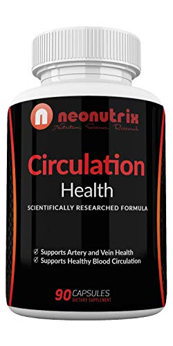 Blood Circulation Health Supplement for Vein Health & Artery Health - L-Arginine, Ginger Root, Hawthorn & Diosmin Cardiovascular Supplement - Natural Circulation Supplements - 90 Capsules by Neonutrix (Best Vitamins For Poor Blood Circulation)