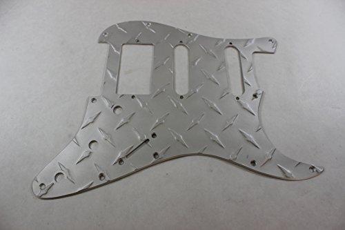 (Satin Finish Strat HSS Diamond Plate Aluminum Pickguard Fits Fender Stratocaster)