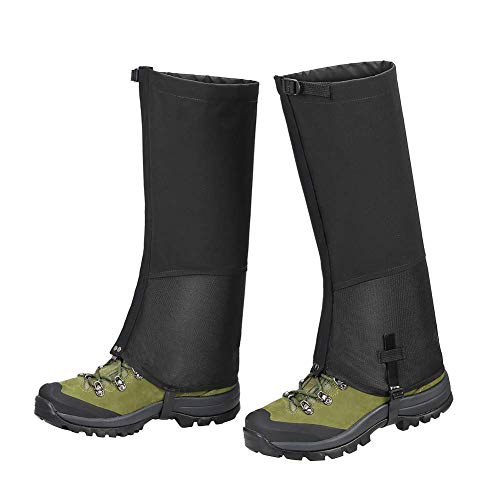 PESTON Leg Gaiters, Waterproof Hiking Gaiter Breathable Anti-wear Snow Boot Covers for Women Men Outdoor Research Hiking Hunting Climbing