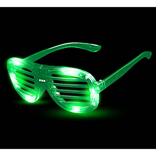 Fun Central I463 LED Light Up Slotted Shades - - Shutter Kanye Shades