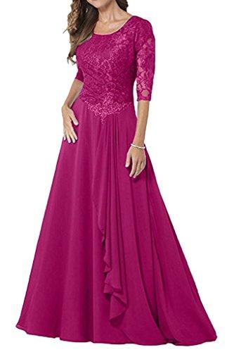 Kleid spitze blau lang