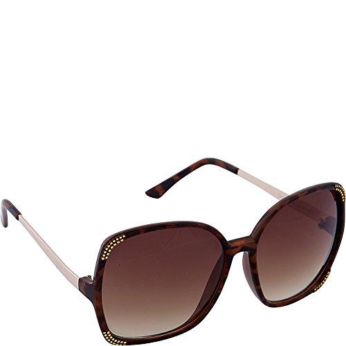 Nanette by Nanette Lepore Women's Ls156 Ts Square Sunglasses, Tortoise, 61 - Sunglasses Nanette Lepore