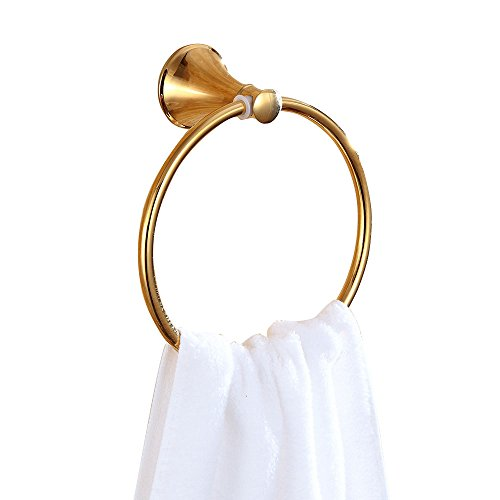 Towel Gold Ring (Sumin Home 32502 Contemporary Wall Mounted Bathroom Towel Ring, Gold)