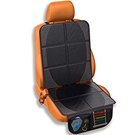 FORTEM Car Seat Protector, Durable Waterproof Backseat Cover for Baby, Protects Against Damage