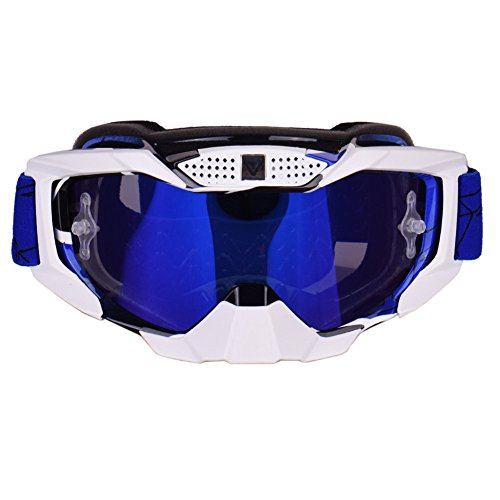 Blue Motocross Goggles Dirt Bike Off Road Atv Motorcycle Goggles  Windproof Dustproof Scratch Resistant Ski Protective Safety Glasses