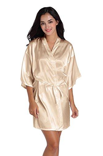 Women/'s Pure Short Silky Robes Bridesmaid Bride Party Satin Robes Sleepwear