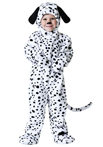 Doggy Little Boy's Spotted Dalmatian Pup Costume 2T Black,White ()
