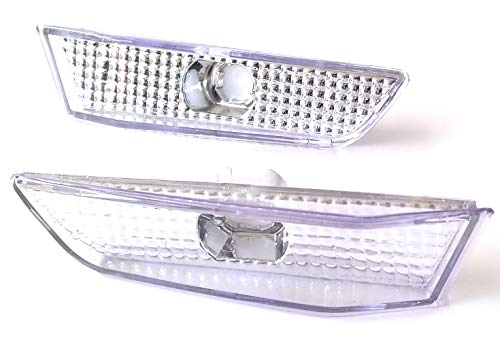 Sakura Zen Clear chrome side marker front bumper light for 03-07 Infiniti G35 2 DR COUPE