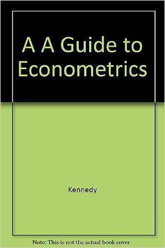 Book A A Guide to Econometrics