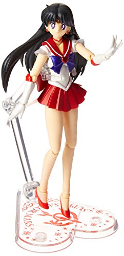 "Bandai Tamashii Nations S.H.Figuarts Super Sailor Mars ""Sailor Moon Super S"" Action Figure from Tamashii Nations"