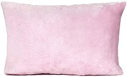 13 x 18 Pillow Included- Travel Pillow Toddler Pillowcase Minky Pink and Gray Elephant Pink Trim