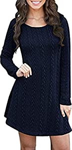 Womens Knitted Long Sweater Dress Tunic