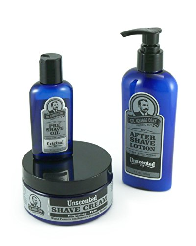 colonel conk 3 piece all natural shaving kit unscented my beard shop the best beard care. Black Bedroom Furniture Sets. Home Design Ideas