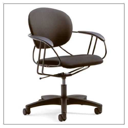 (Uno Multipurpose Chair: Mid Back - Buzz2 Black - Standard Carpet Casters)