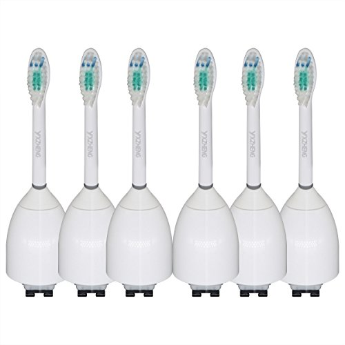 6 Pack Replacement Toothbrush Heads for Philips Sonicare Toothbrush e Series Essence, Xtreme, Elite and Advance (Sonicare E Series Brush Heads 6 Pack)