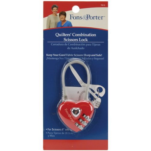Fons & Porter Safety Tool - Quilters' Combination Scissors Lock - 8