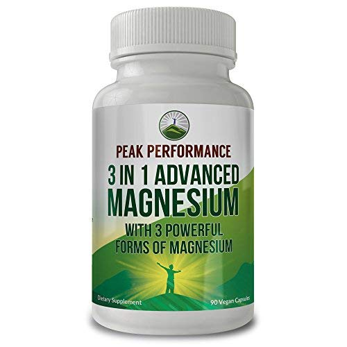3 in 1 Advanced Magnesium Complex by Peak Performance. High Level of Absorbability and Bioavailability. 3 of The Best Magnesiums in ONE - Magnesium L-Threonate, Magnesium Glycinate