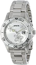 Invicta Women's 12506 Pro Diver Silver Dial Crystal Accented Stainless Steel Watch