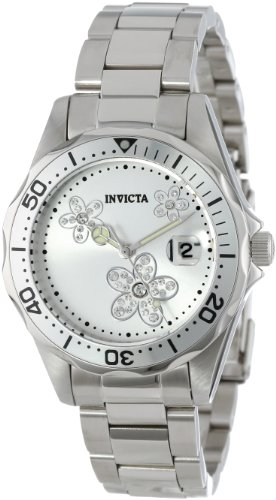 Invicta Women's 12506 Pro Diver Silver Dial Crystal Accented Stainless Steel Watch ()