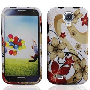 Lf Galaxy Floral Designer Hard Case Cover, Lf Stylus Pen and Lf Screen Wiper Bundle Accessory for Samsung Galaxy S Iv 4 / -
