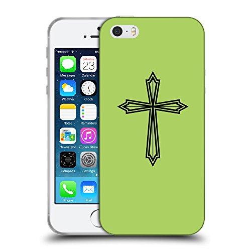 GoGoMobile Coque de Protection TPU Silicone Case pour // Q07970628 Christian Cross 22 poule // Apple iPhone 5 5S 5G SE