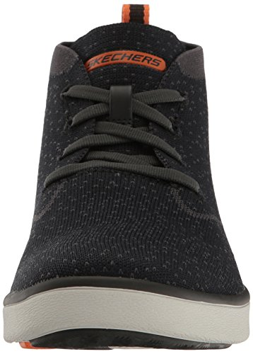 Skechers Usa Mens Boyar Taction Oxford Svart