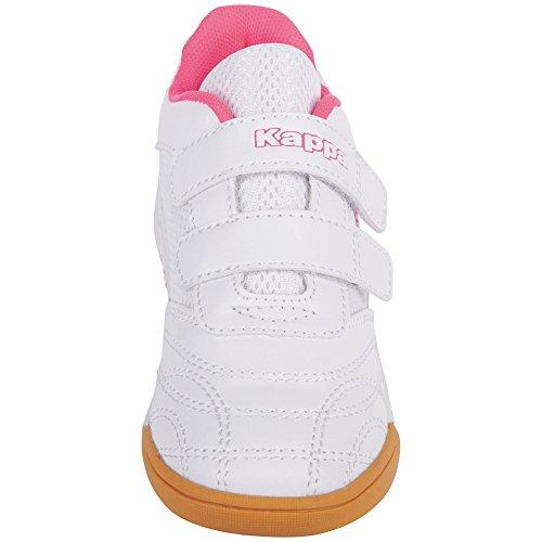 Kappa Kickoff Kids, Zapatillas Para Niñas Weiß (1027 white/l´pink)
