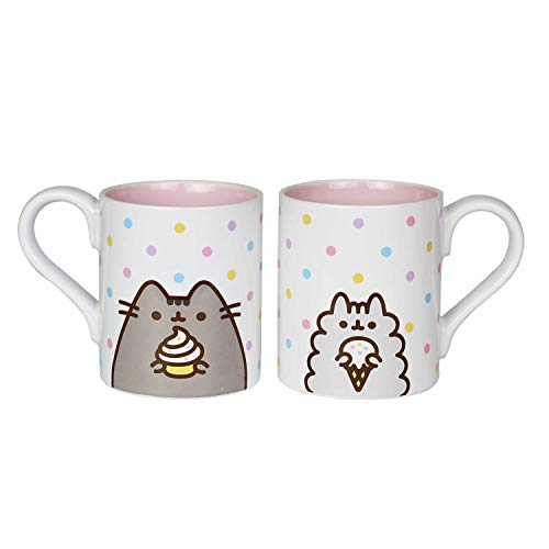 Enesco 6004626 Pusheen by Our Name is Mud Stormy Sweets Coffee Mug Set 12 oz. White