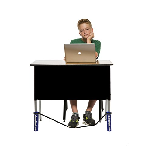 Bouncy Bands for Wide Desks (Blue) – Sensory Tool That Allows Students to Move As They Work, Increasing Focus and Academic Performance, Relieves Anxiety, Hyperactivity, Frustration and Boredom
